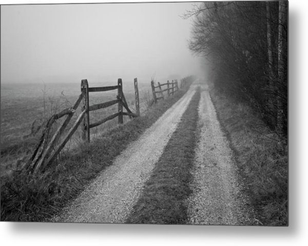 Old Farm Road Metal Print