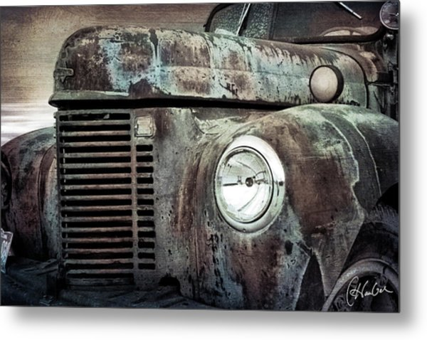 Old Farm Truck IIi Metal Print by Christine Hauber