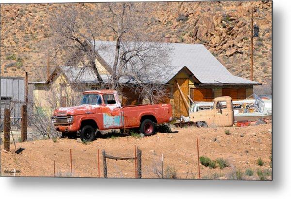 Old Farm Trucks Along Route 66 Metal Print