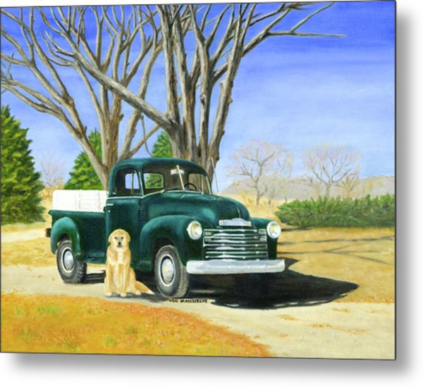 Old Farmhands Metal Print