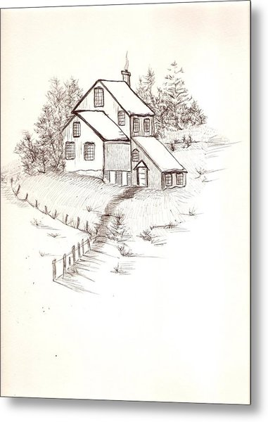 Old Farmhouse Metal Print by Barbara Cleveland