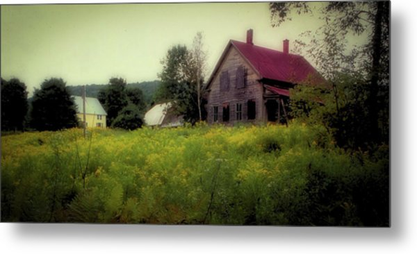 Old Farmhouse - Woodstock, Vermont Metal Print