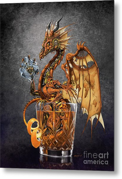 Old Fashioned Dragon Metal Print