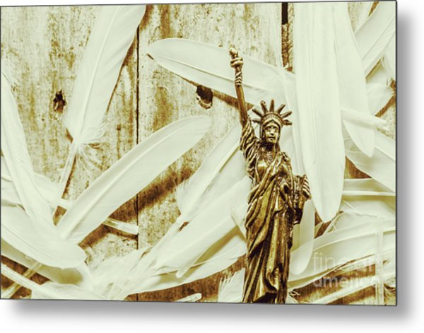 Old-fashioned Statue Of Liberty Monument Metal Print
