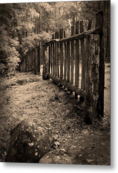 Old Fence Metal Print