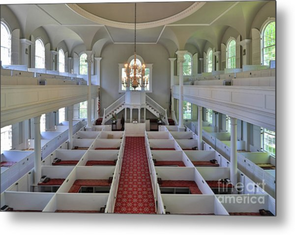 Old First Church Box Pews Metal Print