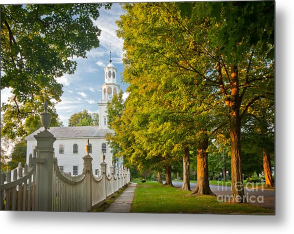 Old First Churchin Bennington Metal Print