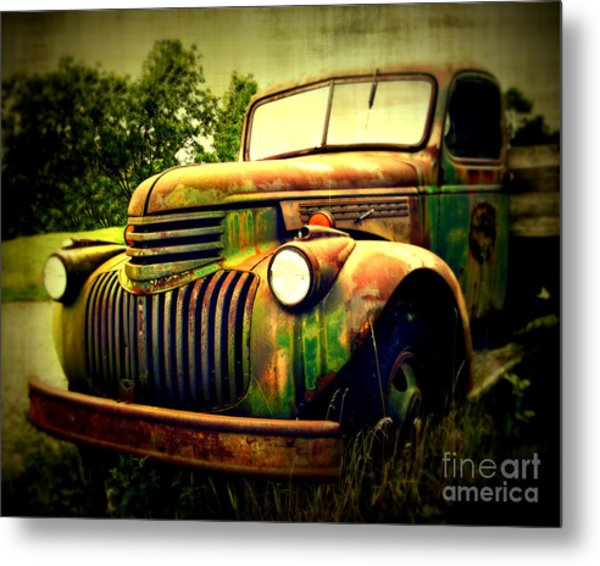 Old Flatbed 2 Metal Print