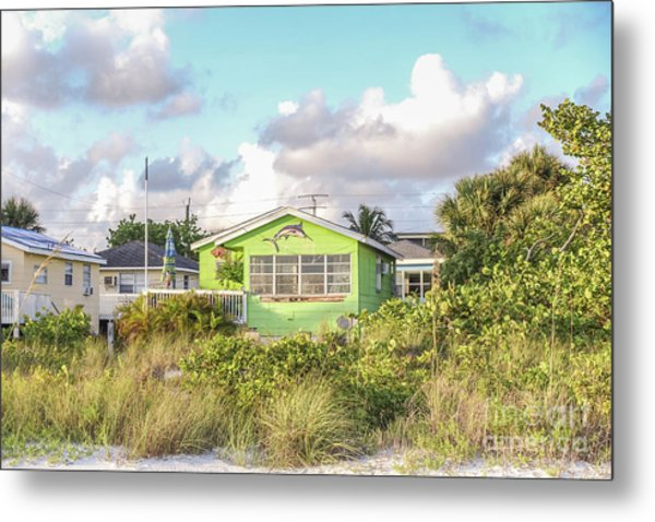 Metal Print featuring the photograph Old Florida Cottage On The Beach by Edward Fielding