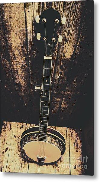 Old Folk Music Banjo Metal Print