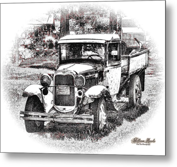 Metal Print featuring the photograph Old Ford Homemade Pickup by William Havle