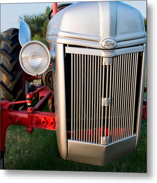 Ford Tractor 9n Tractor Front Metal Print