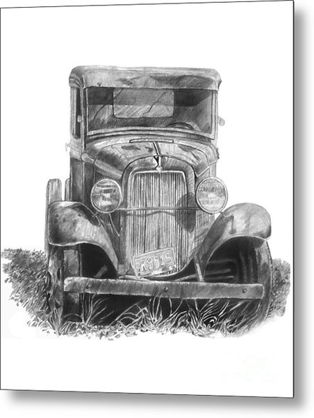 Old Ford Truck Metal Print