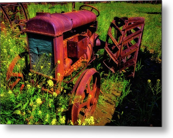 Old Fordson Tractor Metal Print