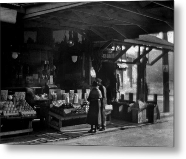 Old French Market Metal Print