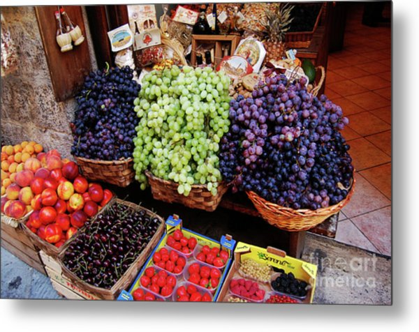 Old Fruit Store Metal Print