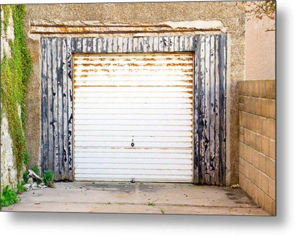 Old Garage Door Metal Print