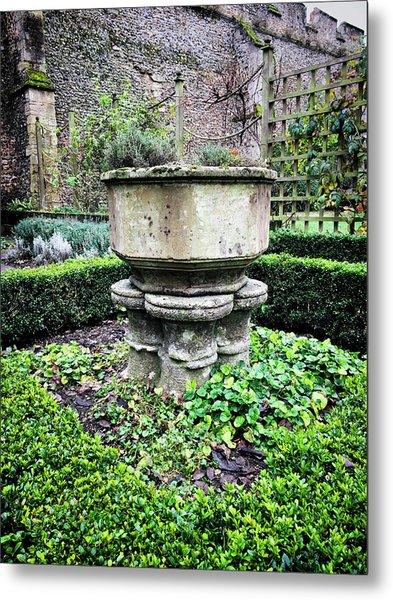 Old Garden Stone Trough Metal Print