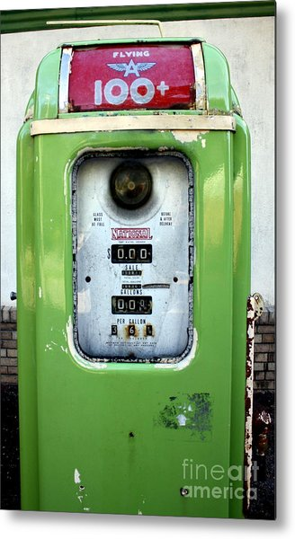 Old Gas Pump II Metal Print by DazzleMePhotography