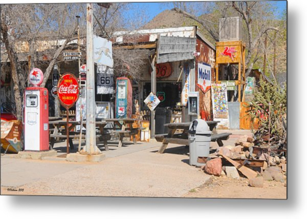 Old Gas Station, Historic Route 66 Metal Print