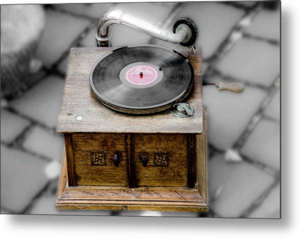 Old Gramophone Metal Print