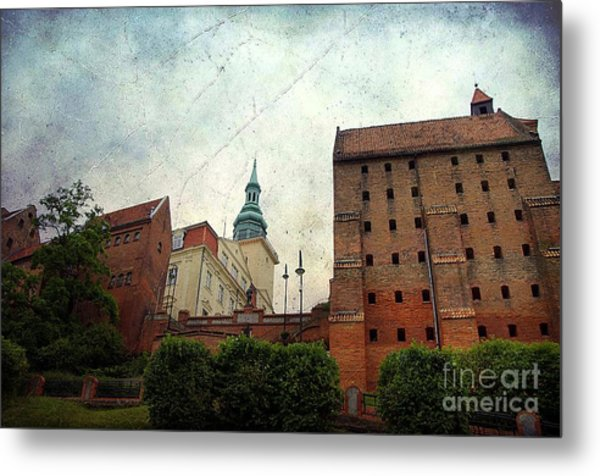 Old Granaries In Grudziadz Poland Metal Print