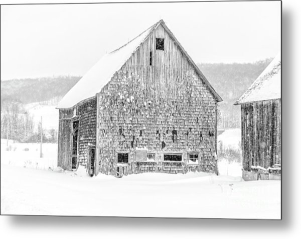 Metal Print featuring the photograph Old Grandham Barns Winter by Edward Fielding