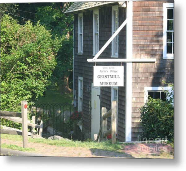 Old Gristmill Metal Print by Amy Holmes