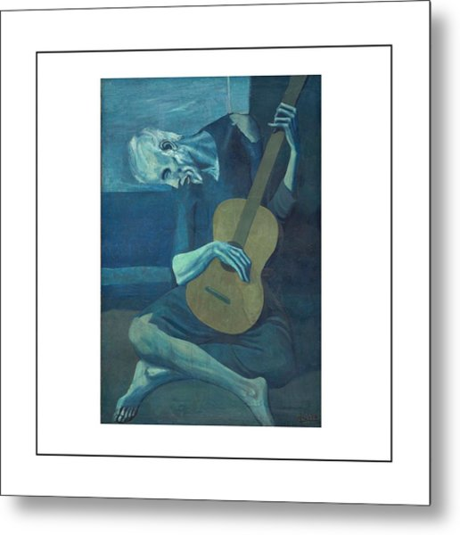 Old Guitarist Metal Print