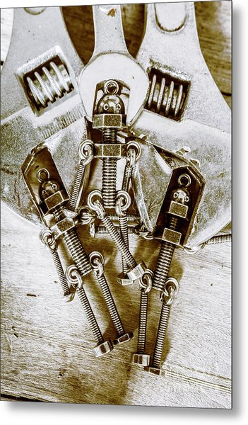 Old Hardware Upgrade Metal Print