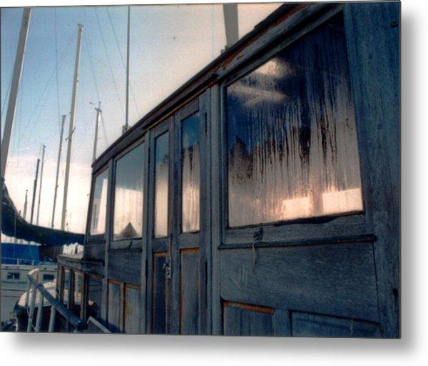 Old House Boat Metal Print