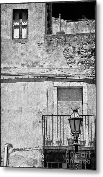 Old House In Taormina Sicily Metal Print