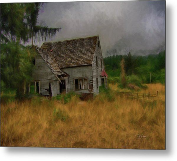 Old House On The Prairie Metal Print