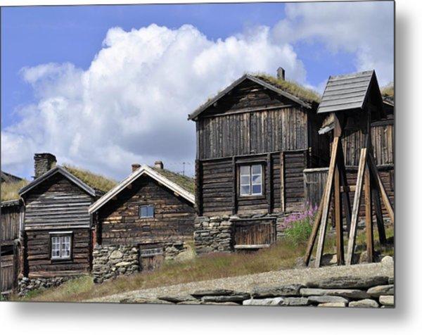 Old Houses In Roeros Metal Print