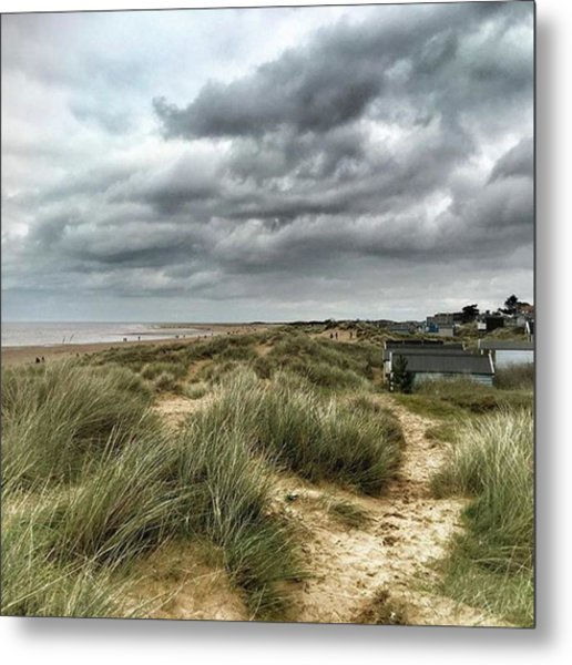 Old Hunstanton Beach, North #norfolk Metal Print