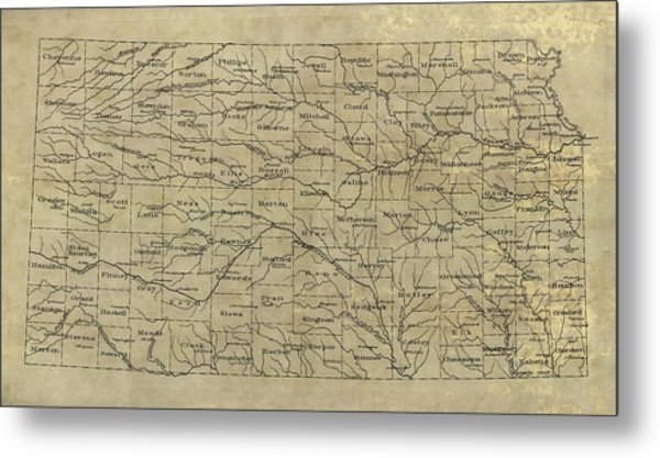 Old Kansas Map.Old Kansas Map 1893 Drawing By Blue Monocle