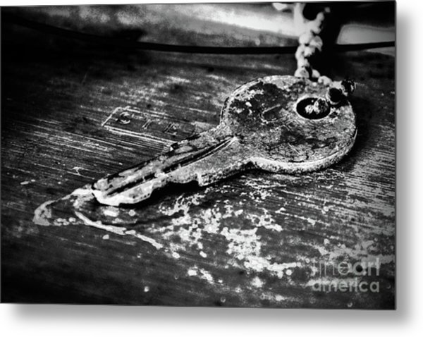 Old Key Metal Print