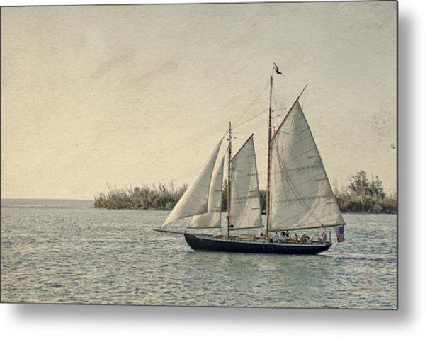 Old Key West Sailing Metal Print