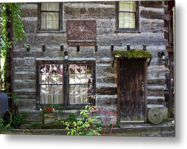 Old Log Building Metal Print