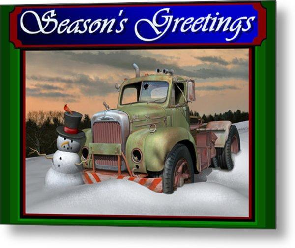 Old Mack Christmas Card Metal Print