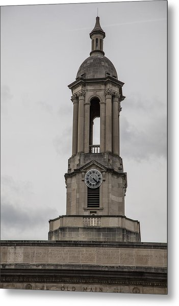 Old Main From Front Clock Metal Print