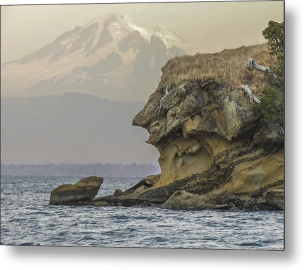 Old Man And The Mountain Metal Print