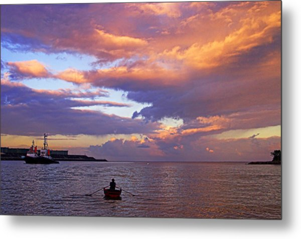 Old Man And The Sea- St Lucia Metal Print