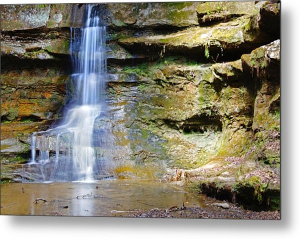 Old Man's Cave Waterfall Metal Print