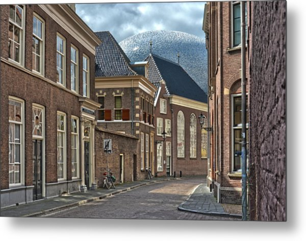 Old Meets New In Zwolle Metal Print