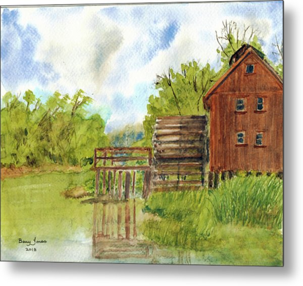 Metal Print featuring the painting Old Mill by Barry Jones