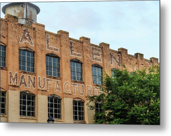 Metal Print featuring the photograph Old Mill Building In Buford by Doug Camara
