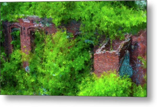 Old Mill Building In Lawrence Massachusetts Metal Print