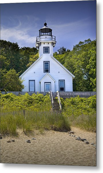 Old Mission Point Lighthouse In Grand Traverse Bay Michigan Number 2 Metal Print