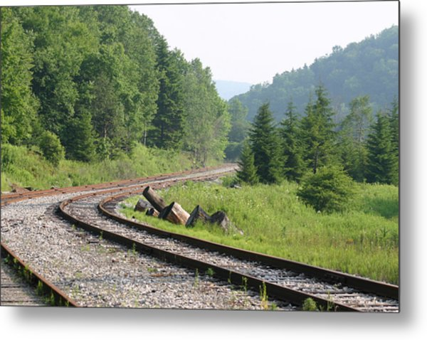 Old Mountain Railway Metal Print by Christopher Purcell